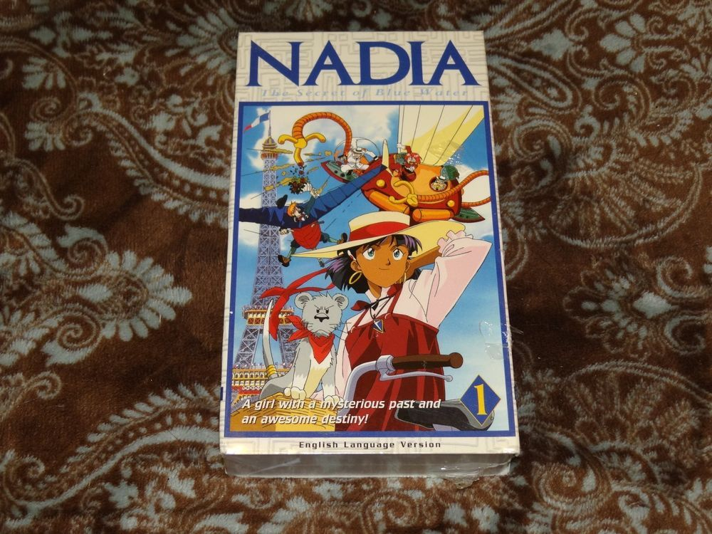 Nadia: Secret of Blue Water, Vol 1 - Adventure Begins (VHS, 2001, Eng Dub) *NEW*