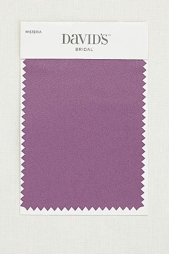 9725764856d Wisteria fabric swatch from David s Bridal. Flower girl will wear this  color satin sash.