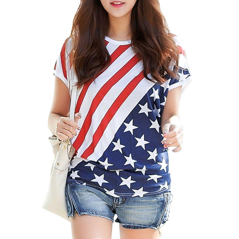 Robot Check American Shirts Blue And White Striped Shirt Tee Shirt Print