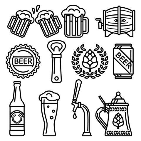 Free Beer Icons | пиво | Beer, Beer hops и Free beer