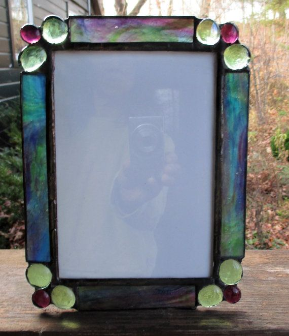 stained glass frame for 5 x 7 photo orianna glass