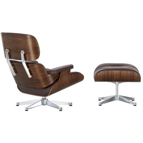 Exceptional Eames Lounge Chair U0026 Ottoman Chocolate Leather Walnut Frame (12 985 AUD) ❤  Liked Design Inspirations