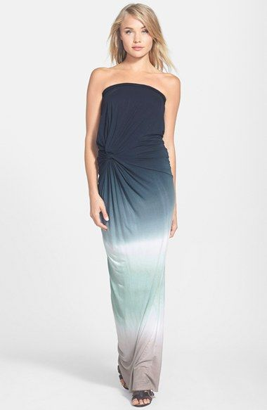 Free shipping and returns on Young, Fabulous & Broke 'Chandra' Maxi Dress at Nordstrom.com. An eye-catching ombré pattern and a twisted waistline detail accentuate a strapless maxi dress cut from a lightweight modal blend.