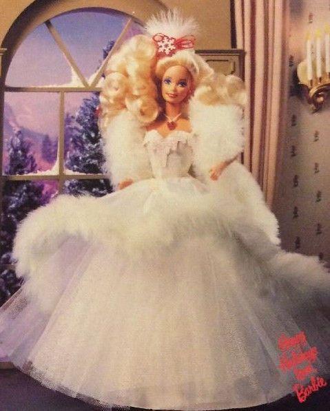 1989 Happy Holidays Barbie Doll Special Edition NIB