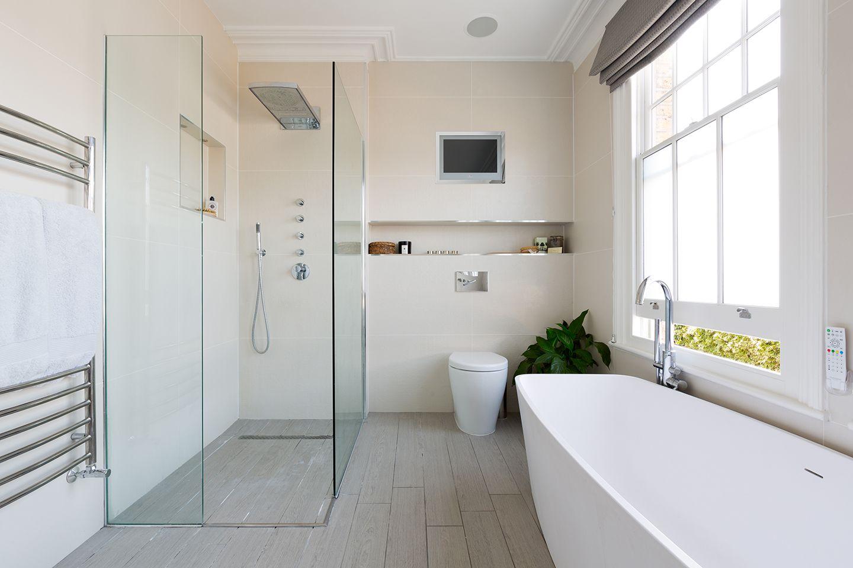 Shelgate Road - Granit Bathroom with frameless shower enclosure ...