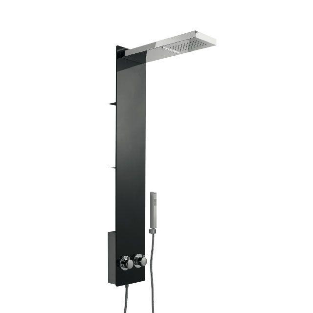 colonne de douche verre noir kainji castorama notre. Black Bedroom Furniture Sets. Home Design Ideas