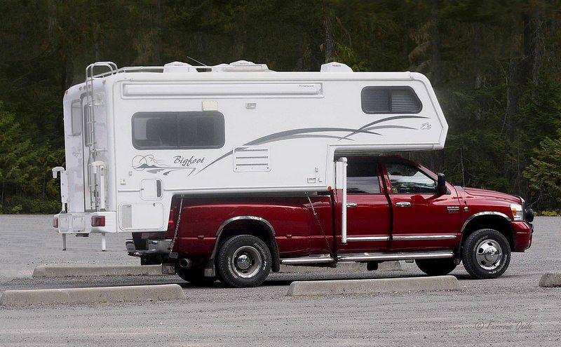 Dodge Ram F500 With Bigfoot Camper Body Pickup Trucks Camping