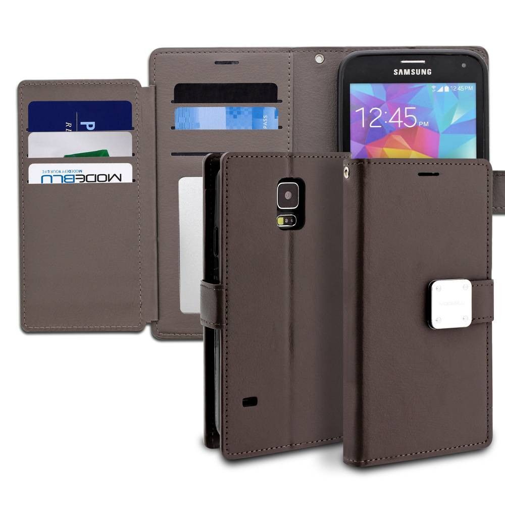 Galaxy S5 Case Mode Diary Wallet Cover - ModeBlu