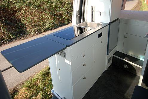 Ausbaum glichkeiten der k che im kastenwagen wohnmobil for Wohnmobil innendesign