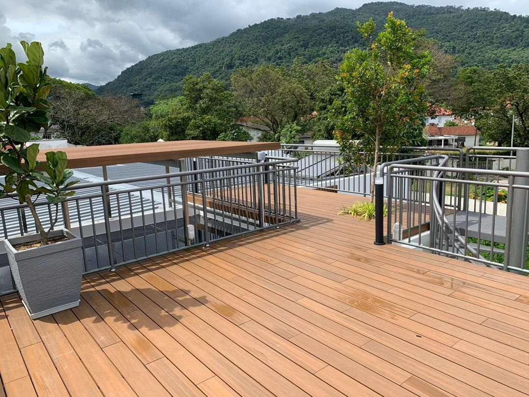 NewTechWood decking installed at a home in Malaysia