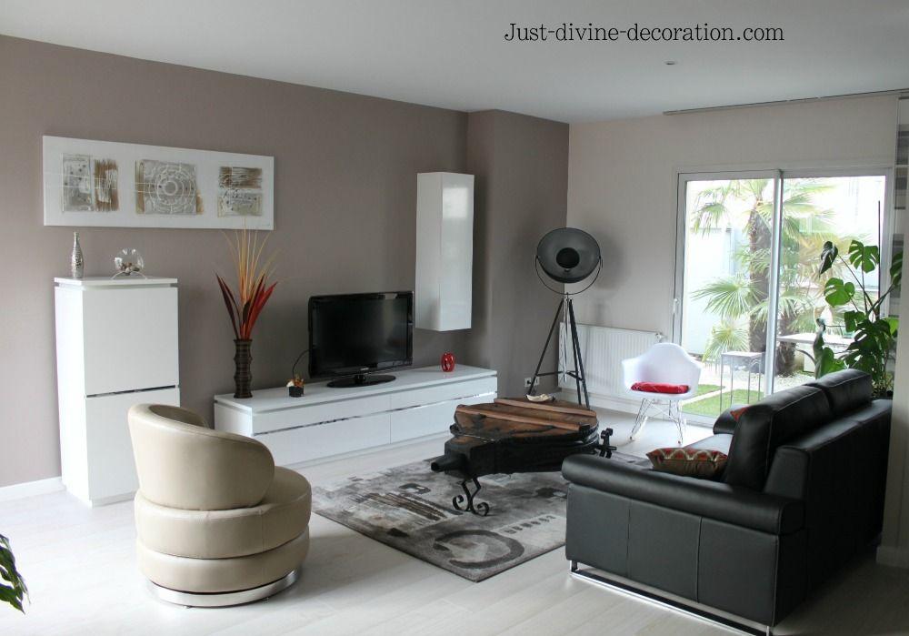 Un salon féérique en gris et blanc par Sophie Ferjani | Salons ...