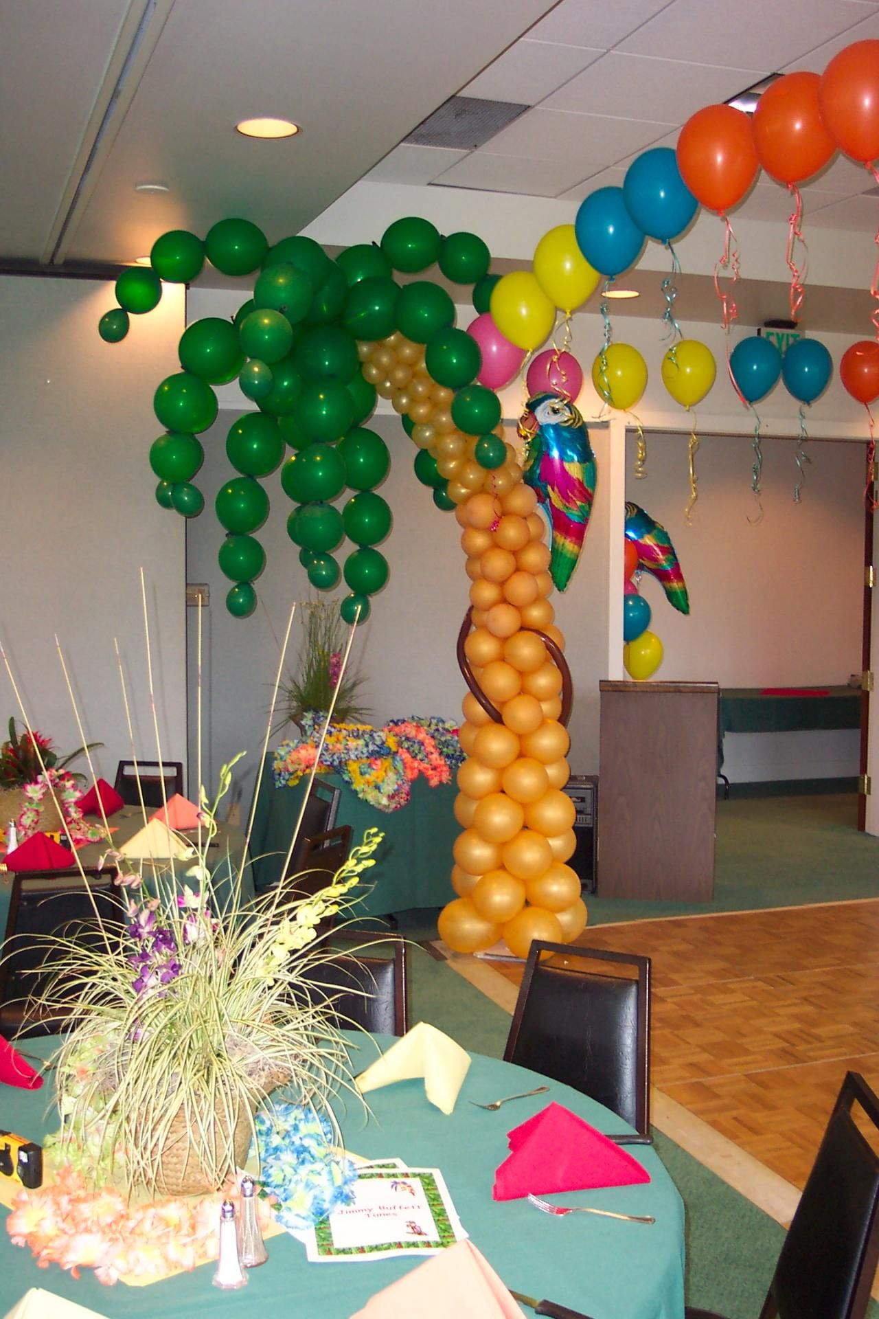 large palm trees party decor | With Balloon Theme decor, create an experience, not just another event ...