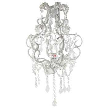 15 Clear Beaded Hanging Chandelier Hanging Chandelier White