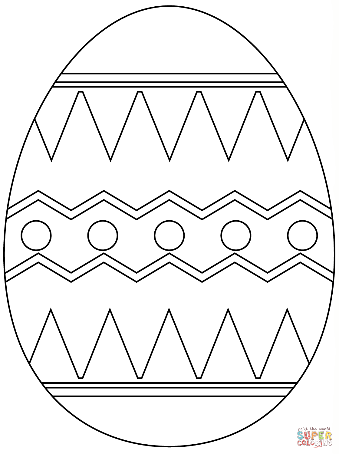 Easter Egg With Abstract Pattern Super Coloring Easter Egg Coloring Pages Bunny Coloring Pages Coloring Easter Eggs