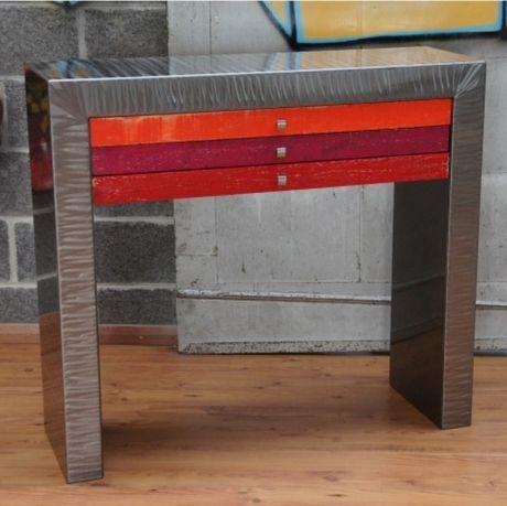 meuble console metal | métaux, design et consoles - Meuble En Acier Design