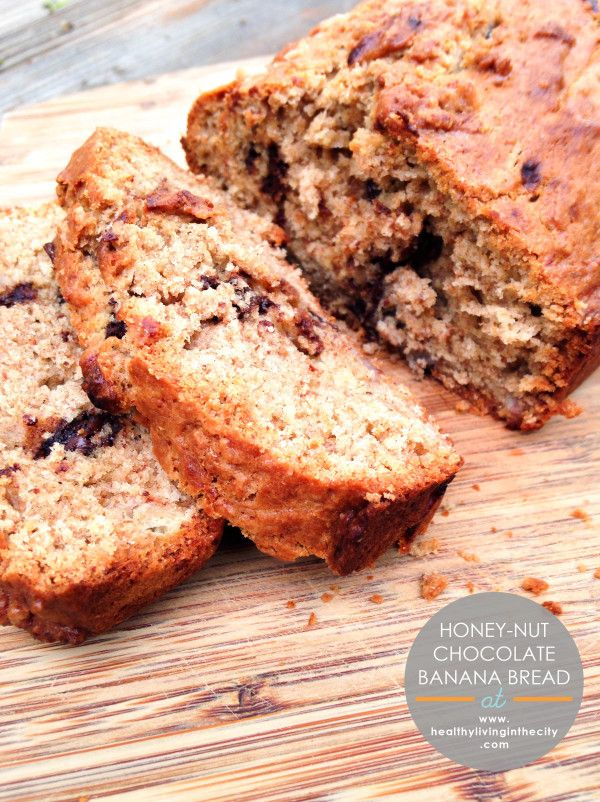 Honey-Nut Chocolate Banana Bread And A Peanut Butter and Co Giveaway