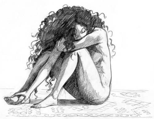 The feeling in this drawing is just amazing...and the natural curly hair is just amazing...