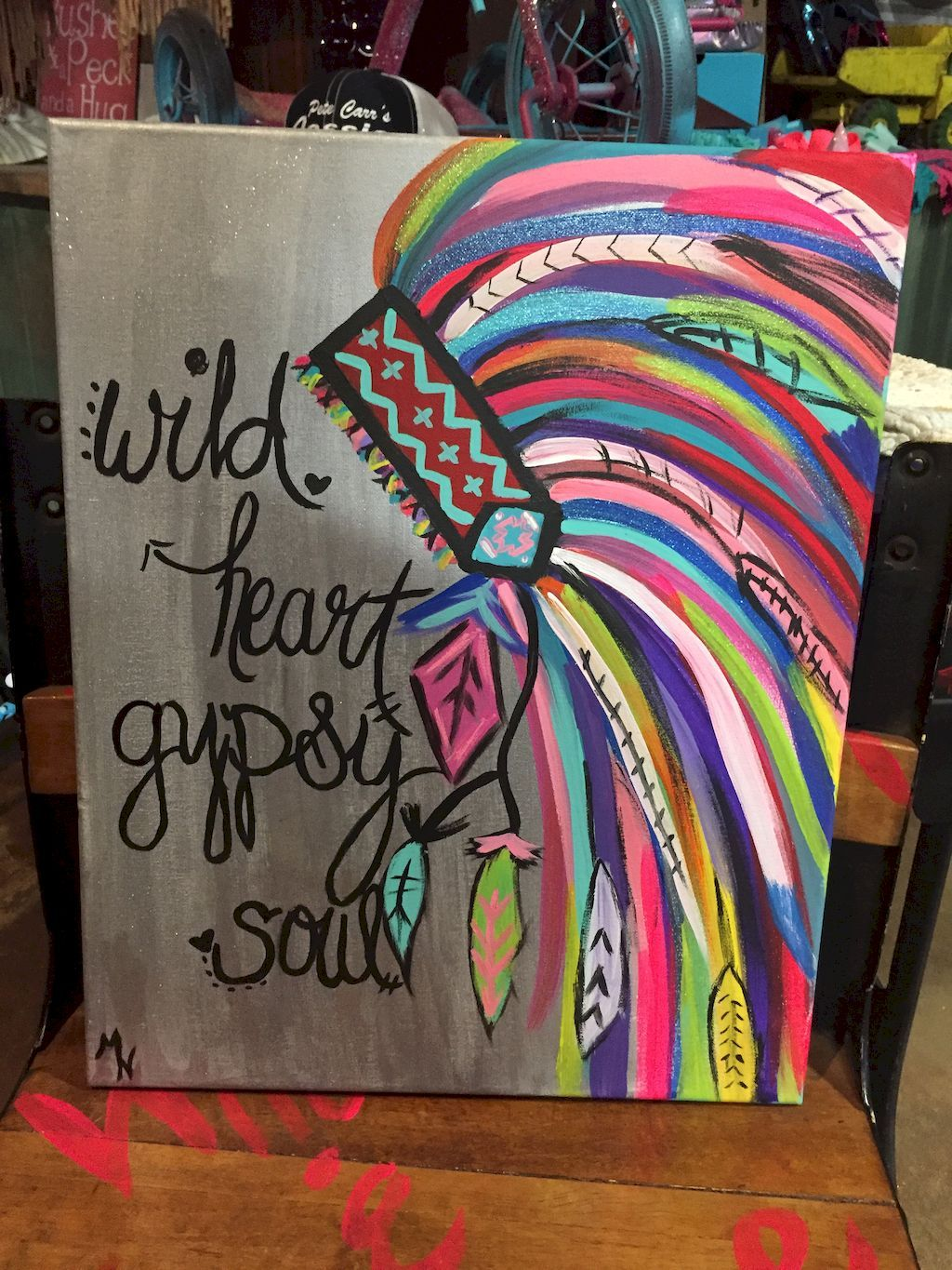 Gorgeous 60 Inspirational Canvas Painting Ideas With Quotes To Decorate Your Home