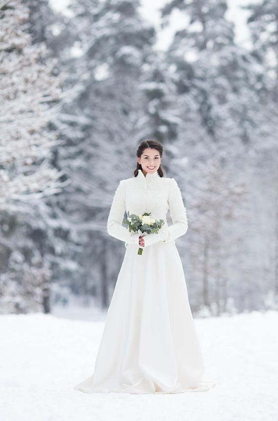 Alpaca bridal Jacket Warm Elegant Bridal Felted Jacket | Winter ...