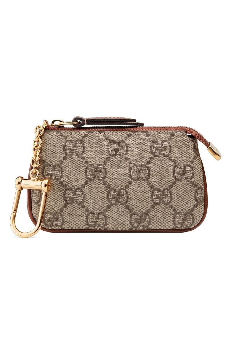 9311add4d Free shipping and returns on Gucci Linea GG Supreme Canvas Key Case Pouch  at Nordstrom.com. Pre-order this style today! Add to Shopping Bag to view  ...
