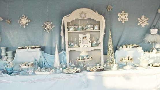 Winter Baby Girl Shower Ideas Grey And White Baby Shower For