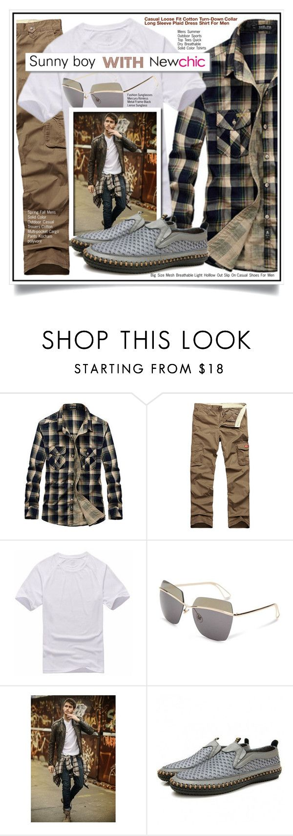 """Newchic contest - Sunny boy"" by ewa-naukowicz-wojcik ❤ liked on Polyvore featuring White Label, men's fashion, menswear, chic, New and newchic"