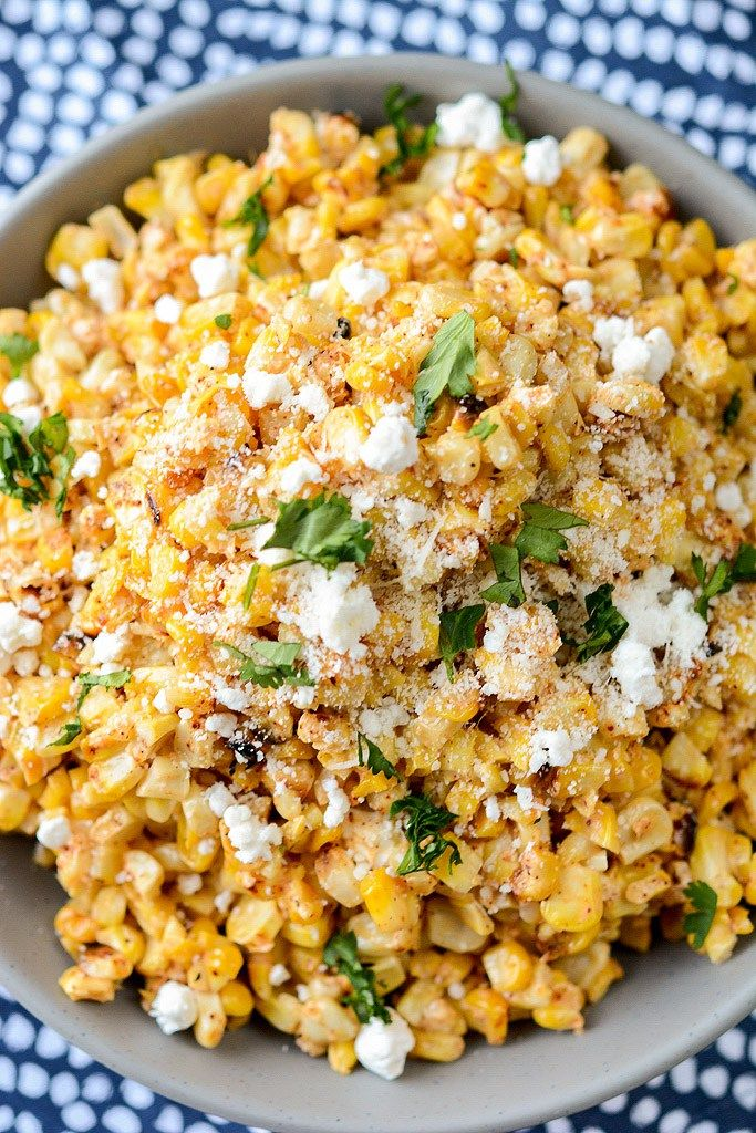 A delicious way to use up that end of summer corn, this Mexican Street Corn salad is perfect on it's own or amazing as a topping on your favorite tacos. #mexicanstreetcornsalad #cornsalad #corn #tacotuesday #mexican #mexicanstreetcorn