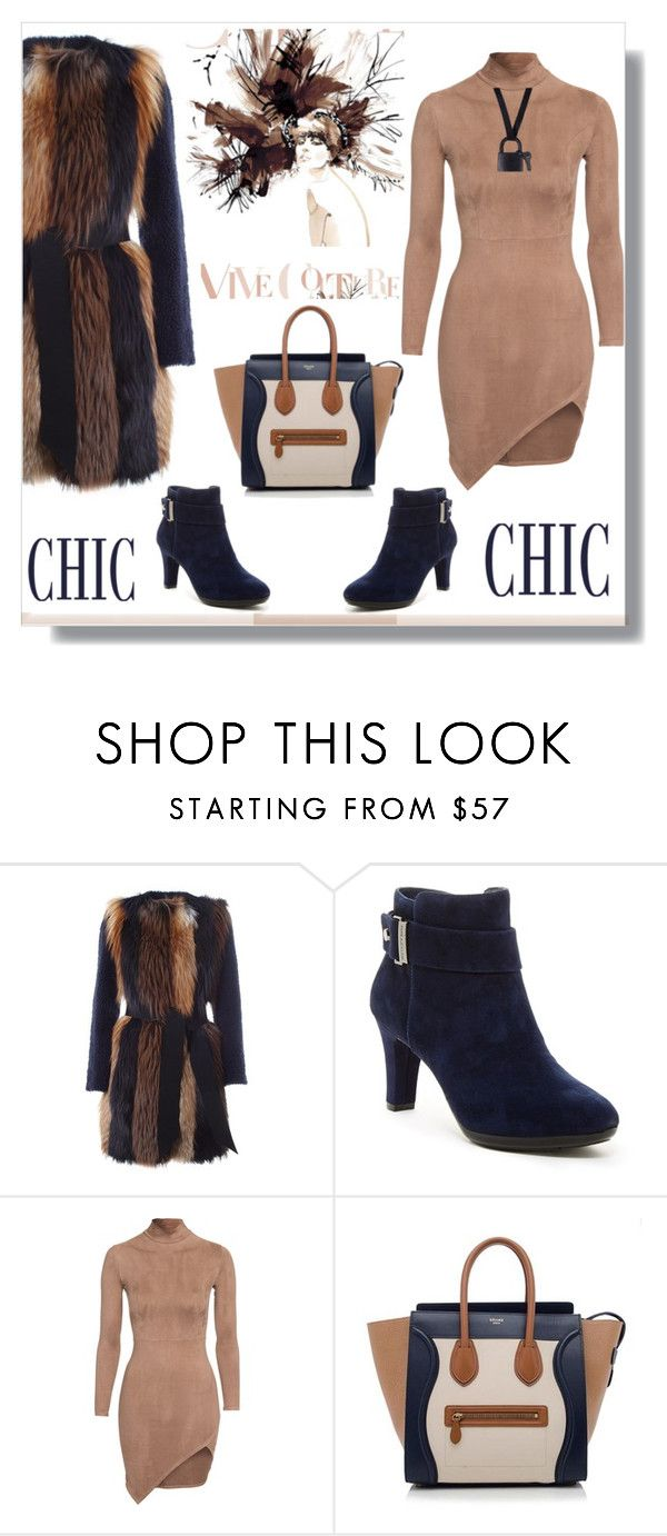 """""""Untitled #1111"""" by ruru833 ❤ liked on Polyvore featuring BLANCHA, Anne Klein, CÉLINE and Maison Margiela"""