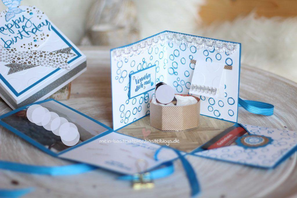 explosionsbox zum geburtstag wellness gutschein im whirlpool geschenkideen pinterest. Black Bedroom Furniture Sets. Home Design Ideas