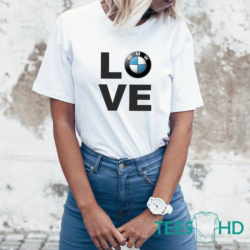 BMW T Shirt M Power Automobile Vehicle Sports Car Fans Birthday Gift Women Tee