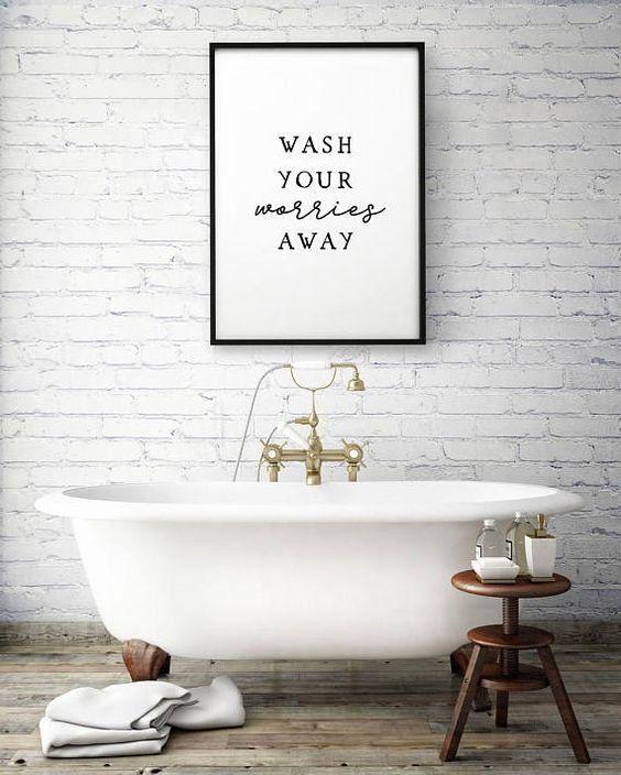 Bathroom Interior Quotes Beautiful Bekijk Onze Quotes Voor In De Badkamer In 2020 Guest Bathroom Decor Bathroom Art Prints Bathroom Prints