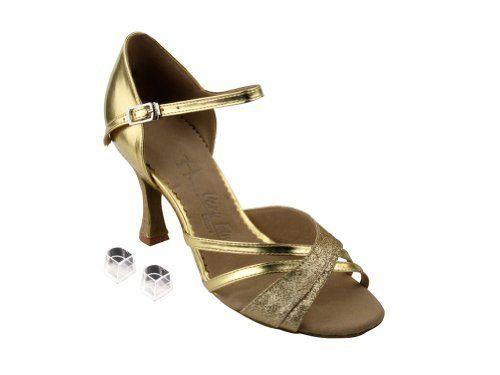 83b9b30e5f1475 Very Fine Ladies Women Ballroom Dance Shoes EKSA6030 Gold Stardust ...