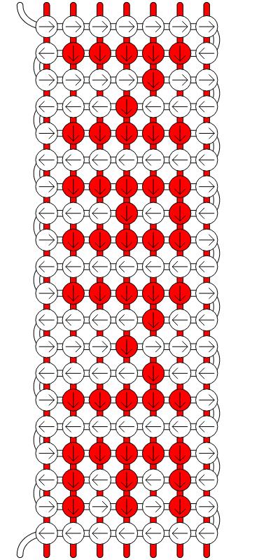 Generador de patrones - friendship-bracelets.net exelentee! | Nudos ...