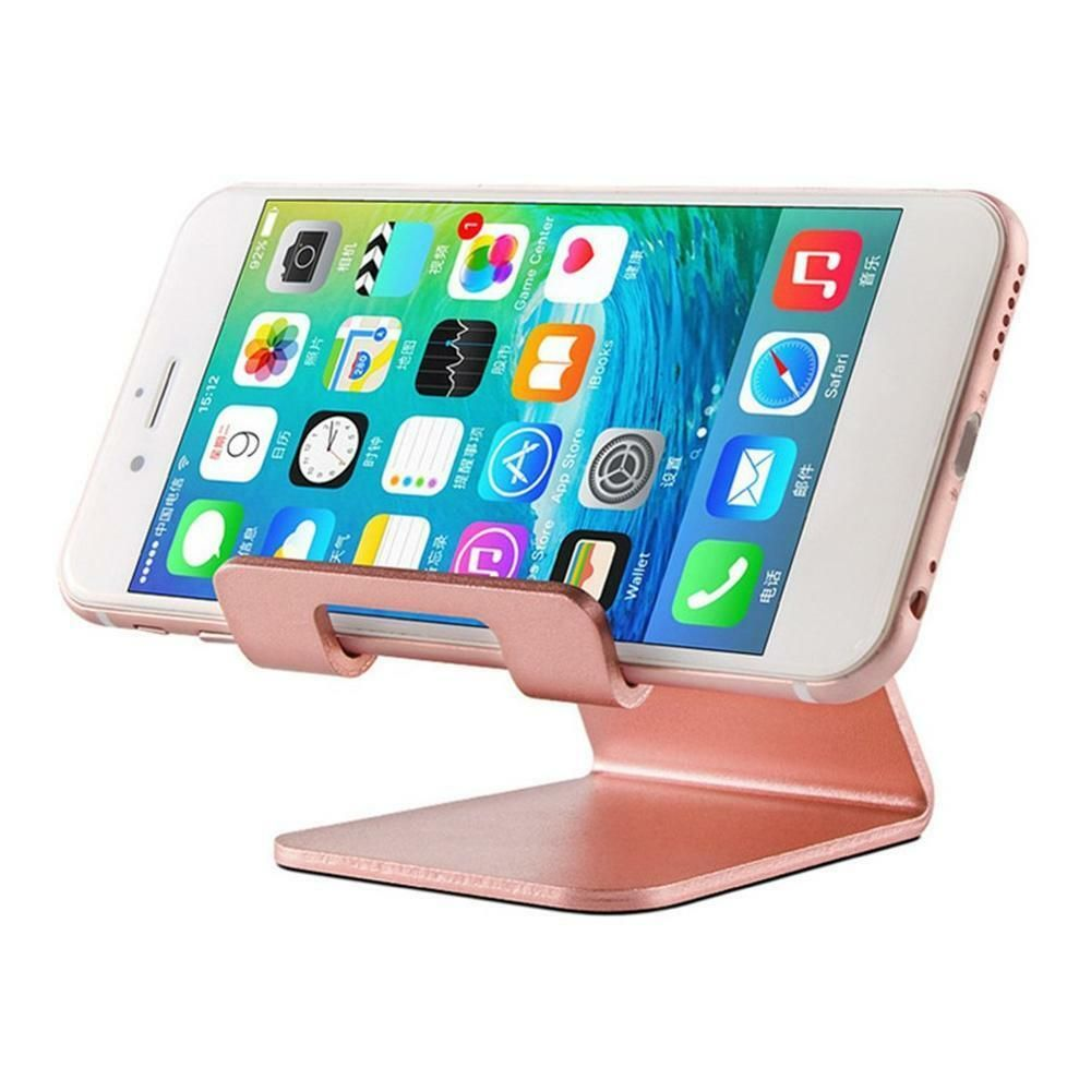Cellphones & Telecommunications Holder Stand For Iphone 8 7 7plus 6s 6 5s 5 Cellphone For Kindle Ebook Aluminum Metal Mobile Phone Tablet Desk 1pc Low Price Mobile Phone Holders & Stands