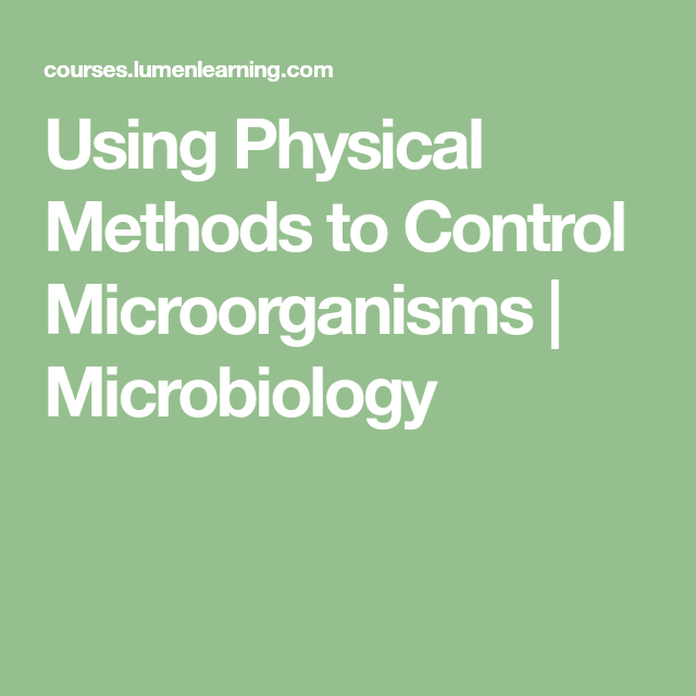 Science Physics Methods: Using Physical Methods To Control Microorganisms