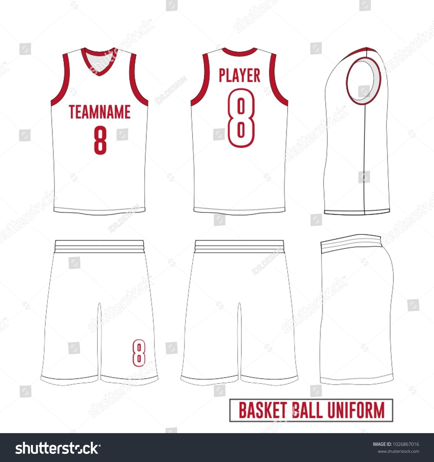 ed9585d5260c Vector Template Basketball Uniform Jersey