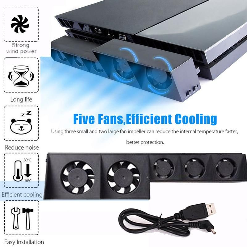 For Ps4 Cooling Fan External Cooler Fan For Sony Playstation 4