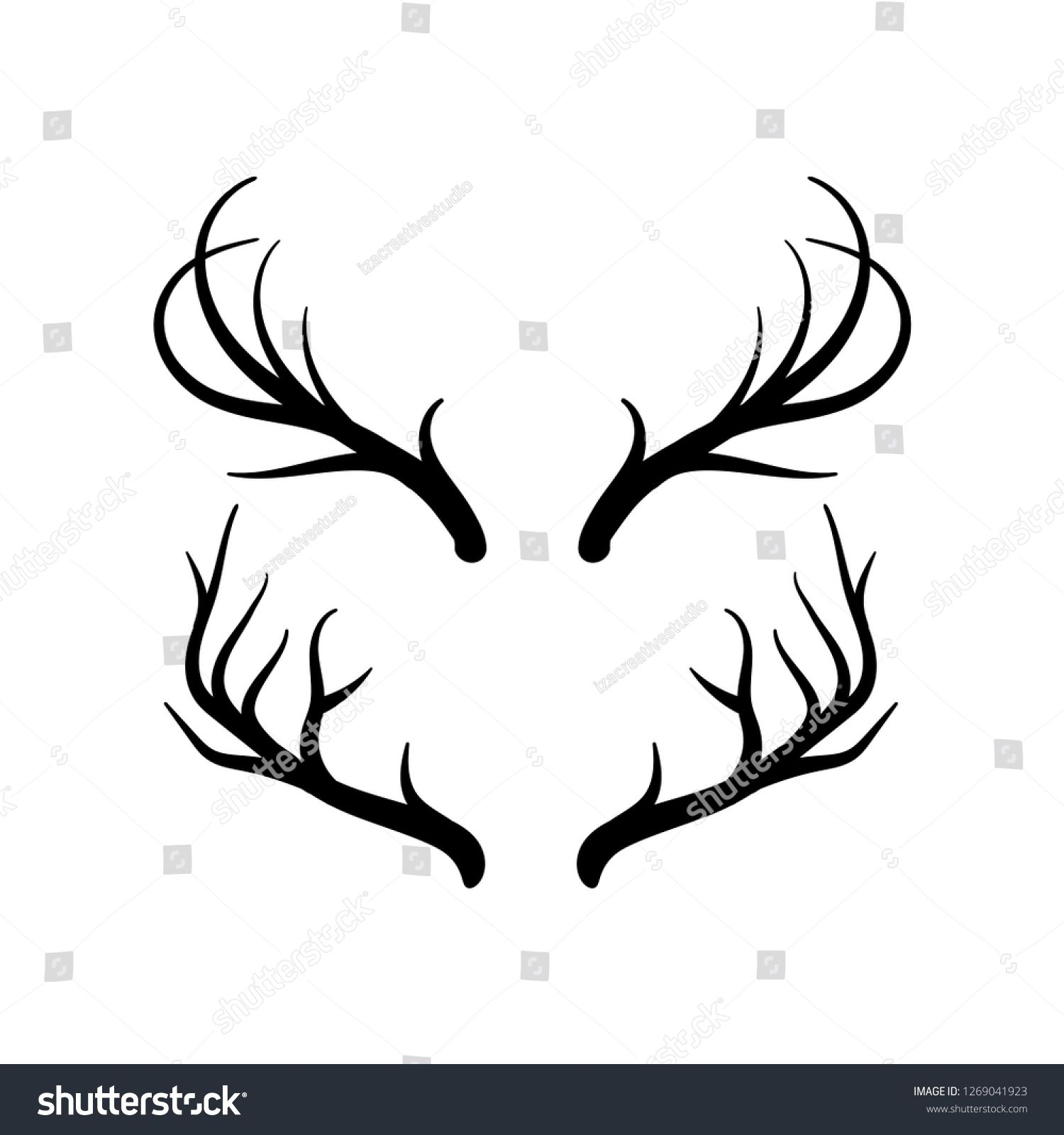 Pin by Vinh Phương on Horn Vector icons, Deer horns
