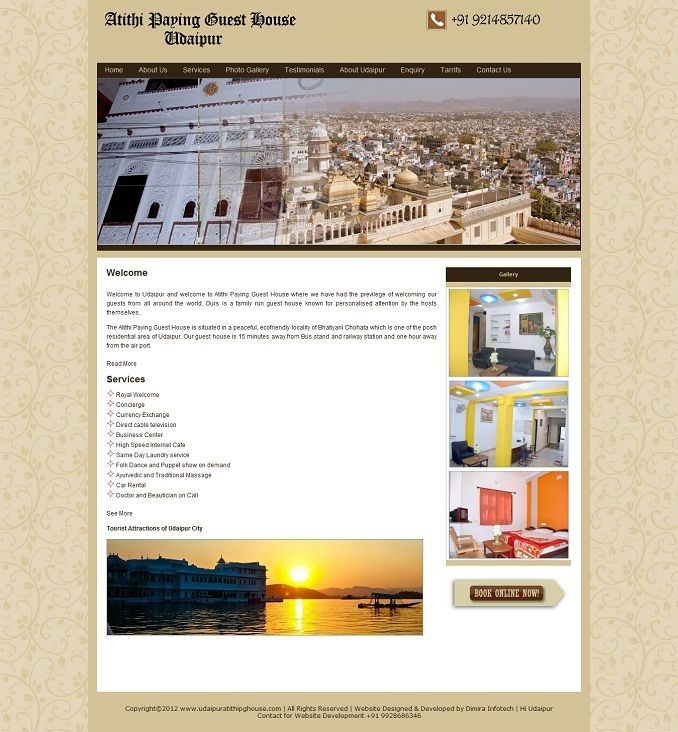 Guest house websites design