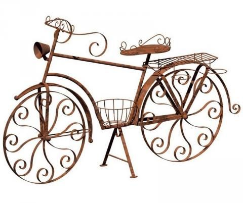Garden Bicycle Plant Holder Plan With Images Wrought Iron
