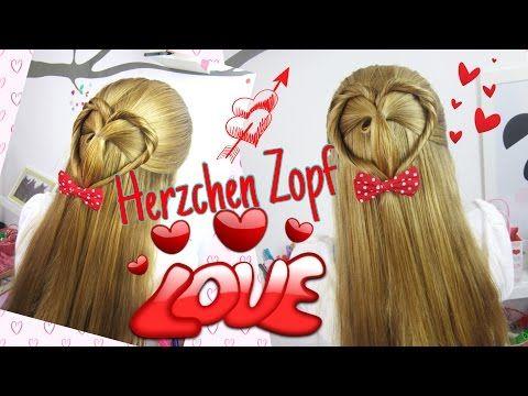 Valentinstag Zopf Mit Herz Herzchen Frisur Coole Mädchen