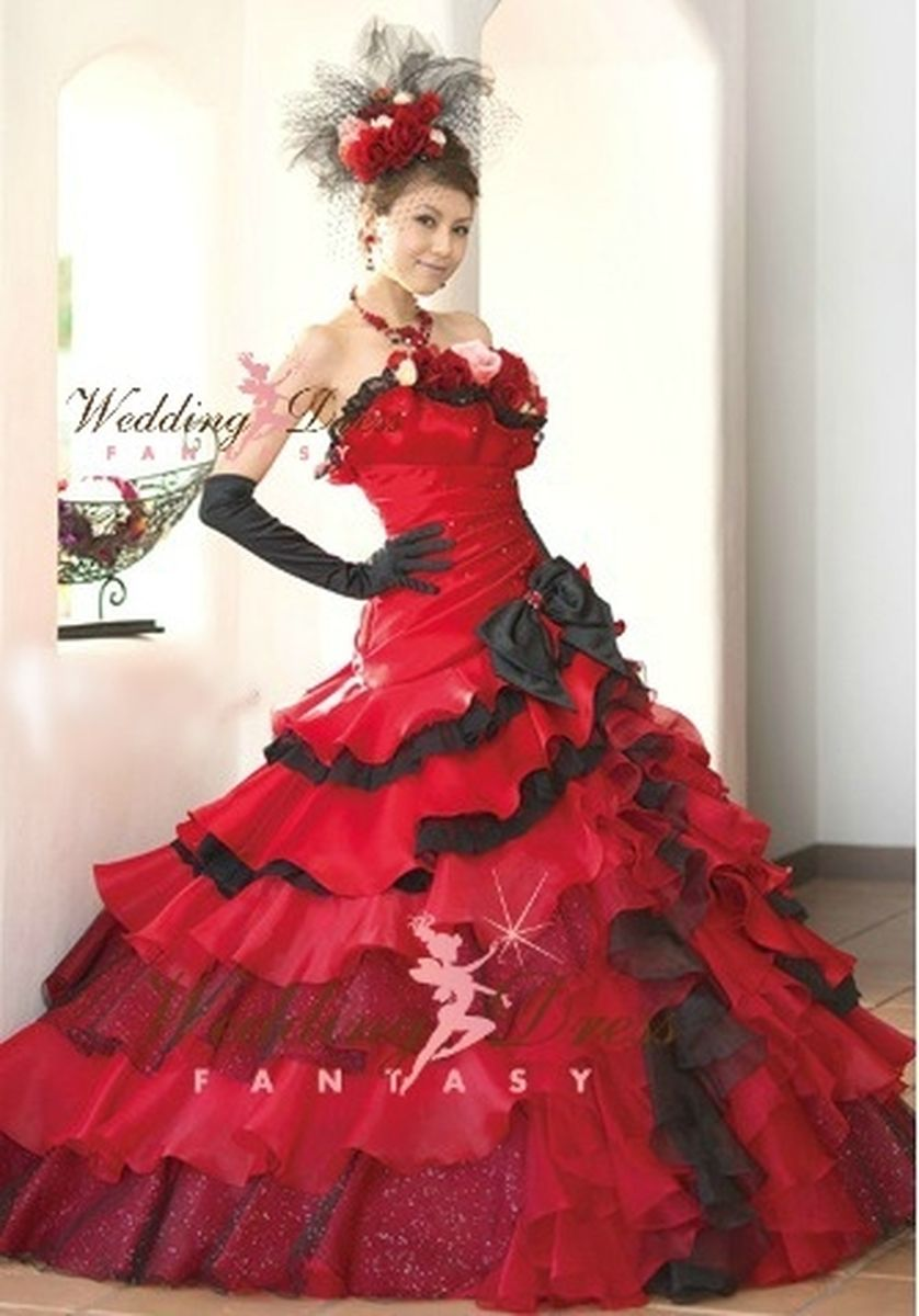Red And Black Wedding Dress Available In Every Color 3 Black Wedding Dresses Custom Wedding Dress Gothic Wedding Dress [ 1200 x 838 Pixel ]
