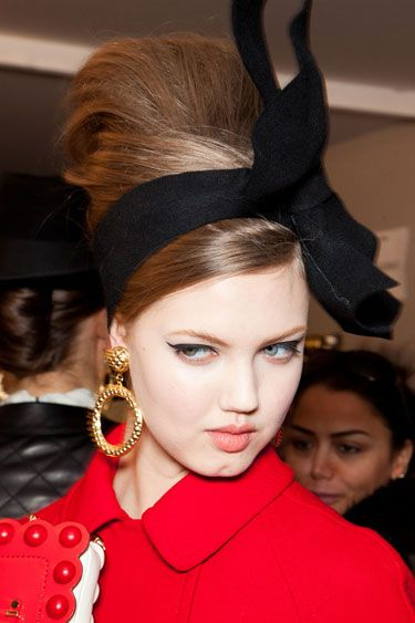 Bouffants seen at Moschino
