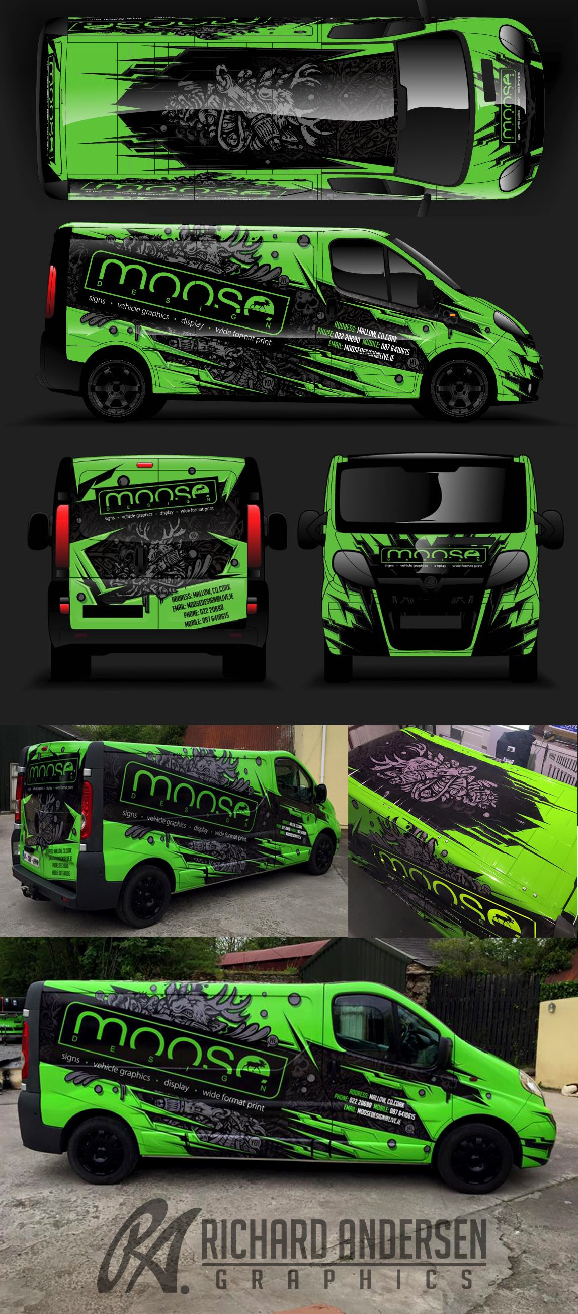Car decals tribal graphic design zion series - Van Wrap Design With Custom Character