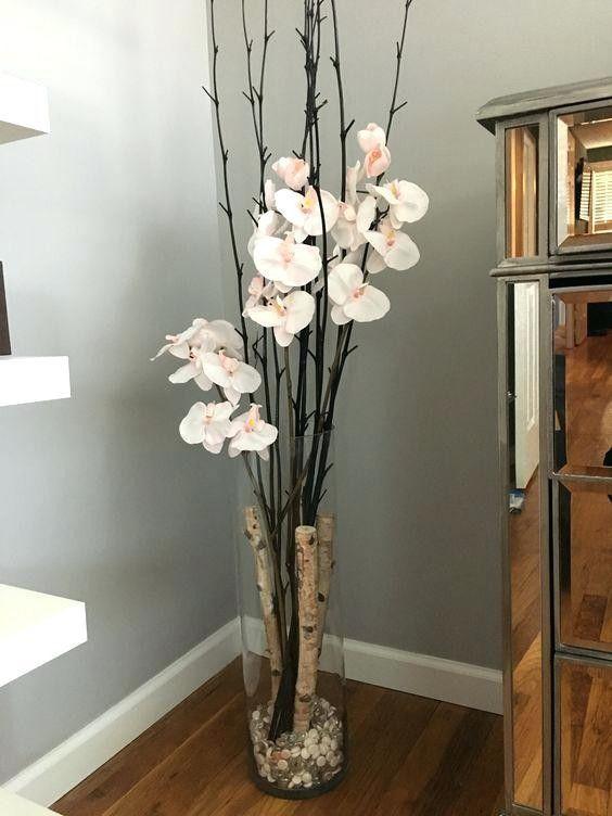 Pin de liliana antilen lizana en casas jarrones grandes - Decoracion de jarrones con flores artificiales ...