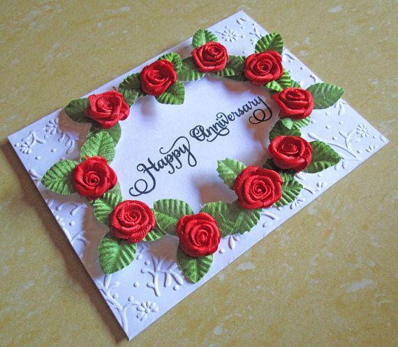 Wedding Anniversary Card Silver 1st 10th Wedd