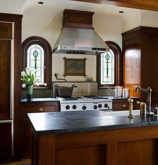 Pin by Connie Baker on Country Kitchen | Mahogany kitchen ...