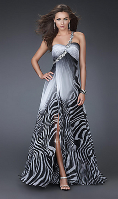 Pretty Prom Dresses That Have Zebra