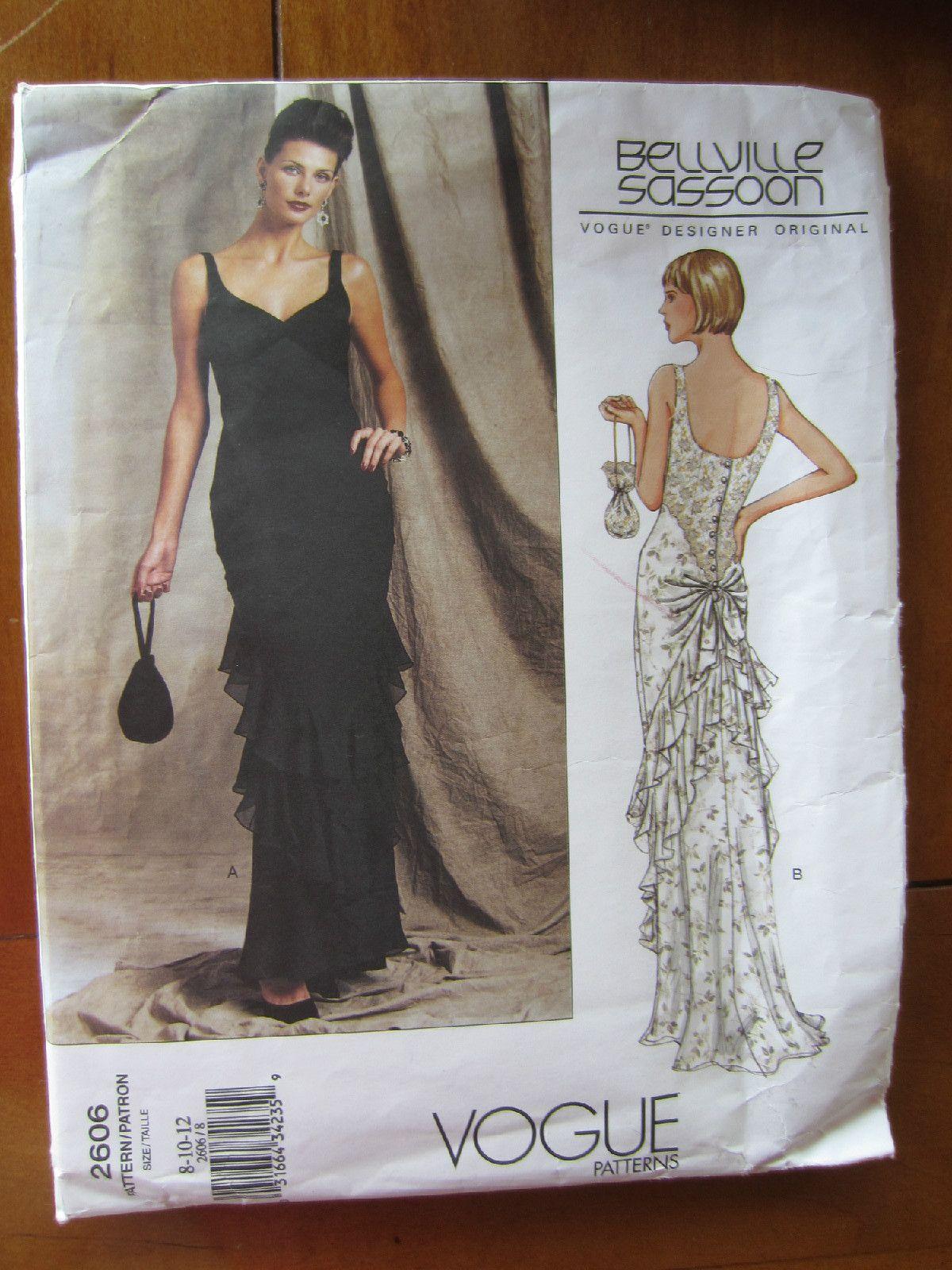 Vogue Pattern 2606 Designer Original Bellville Sassoon Formal Dress