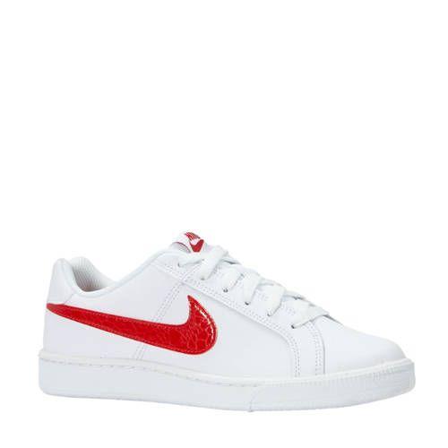 Nike Court Royale sneakers wit/kersenrood in 2020 - Sneakers ...